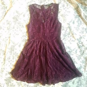 NWOT Express Fit and Flare Lace Dress